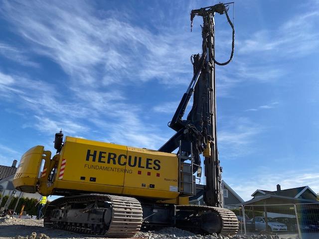 Hercules Fundamentering utfører arbeid for Consto Midt-Norge